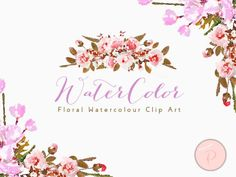 WCA84-boho-watercolor-floral-cliparts