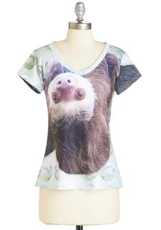 Thou Sloth Impress Too Much Tee. Profess your love for everyones favorite sleepy creature by donning this unique graphic tee. #multi #modcloth