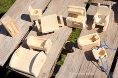 Dollhouse Furniture Waldorf Peg People Rustic by ImagineNationShop
