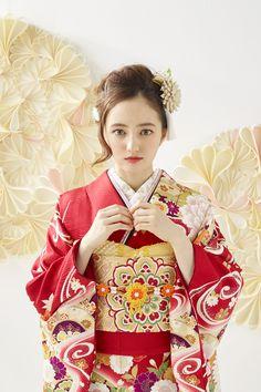 Japan Woman, Hair Arrange, Japanese Outfits, Yukata, Japanese Kimono, Japan Fashion, Kimono Fashion, Short Hair Styles, Hair Makeup
