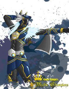 Power Rangers: Mythic Champions Blue Wolf by the-newKid.deviantart.com on @deviantART