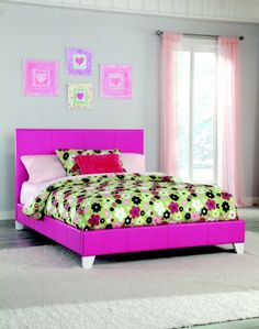 Pink Bycast Leather Bed - Twin or Full - $179.  Also Available in Lavender.
