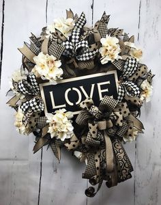 Your place to buy and sell all things handmade Burlap Flower Wreaths, Hydrangea Wreath, Deco Mesh Wreaths, Diy Wreath, Wreath Burlap, Wreath Ideas, Indoor Wreath, Christmas Mesh Wreaths, Welcome Wreath