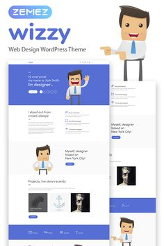 Wizzy - Designers Portfolio WordPress Theme #67375