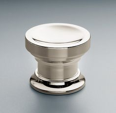 "Asbury Knob | Knobs | Restoration Hardwar Available in polished nickel - 1"" or 1 1/4"" diameter"