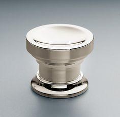 "Asbury Knob   Knobs   Restoration Hardwar Available in polished nickel - 1"" or 1 1/4"" diameter"
