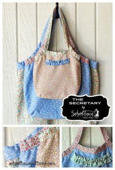 secretary bag sewing pattern by schoolhouse