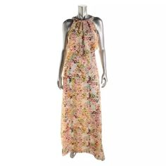 Jessica Simpson Chiffon Floral Print Halter Maxi Manufacturer: Jessica Simpson Size: 2 Size Origin: US Manufacturer Color: Floral Print Retail: $175.00 Condition: New with tags Style Type: Maxi Collection: Jessica Simpson Silhouette: A-Line Sleeve Length: Sleeveless Closure: Halter Dress Length: Full-Length Total Length: 60 Inches Bust Across: 19 Inches Waist Across: 14 1/2 Inches Material: 100% Polyester Fabric Type: Chiffon Specialty: Lined Jessica Simpson Dresses Maxi
