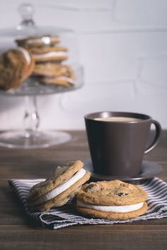 The Best Bourbon-Laced Chocolate Chip Cookie Sandwiches | Peaches Please