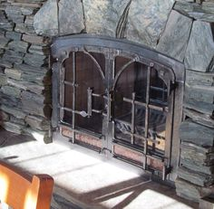 Forged Fireplace doors in Kenora, Ont.