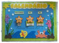 Calendário tema fundo do mar *FAÇO EM OUTROS TEMAS.