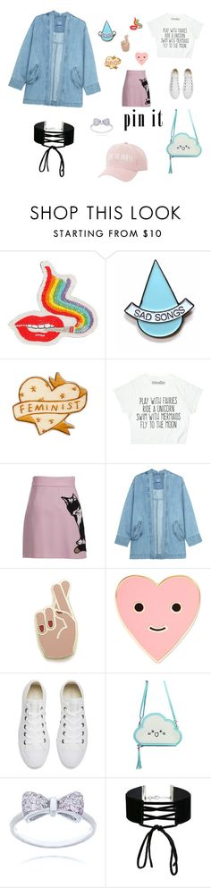 """""""Untitled #9"""" by dex-amc ❤ liked on Polyvore featuring Olympia Le-Tan, Stay Home Club, MSGM, Georgia Perry, ban.do, Converse, Miss Selfridge and Charlotte Russe"""