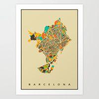 Art Print featuring Barcelona by Nicksman