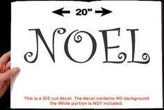 Noel  Christmas Door / Vinyl Wall Decal  Easier Than by WrenGifts - best yet it's only $6