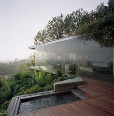 Dreaming of those window walls and spa...
