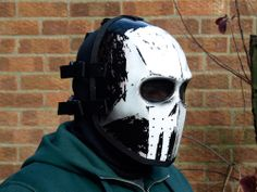 Army of Two v1 - White Skull Airsoft BB Cosplay Costume Fiberglass Mask