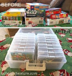 40 Weeks 1 Whole House: Week 27: Organizing Board Games, Video Games and Puzzles - Organize 365   organizing ideas organizing tips #organized
