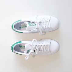 Classic white and green Stan Smiths by Adidas  Photo Credit: @ericaaulds