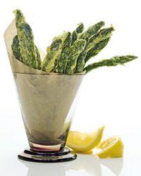 asparagus tempura.
