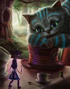 Imagem via We Heart It https://weheartit.com/entry/156478947/via/3148517 #alice #cat #cheshire #disney #evil #lsd #movie #princess #videogame #wonderland