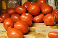 """A great """"How to Can"""" Large Tomatoes pile of tomatoes by Marisa 