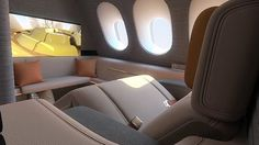 Stunning new First Class airline cabin design is revealed. Created by Seymourpowell.