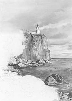 Landscape Drawings in Pencil | The following is my step-by-step description of my rendering of ... #LandscapeDrawing