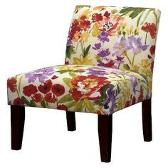On Clearance at Target - Avington Upholstered Slipper Chair Wildflowers