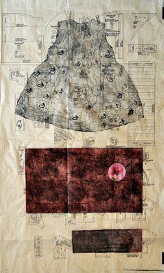 Untitled by print artist Mehwish Iqbal. via Dirty Hands Printmakers