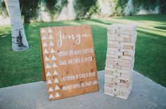 giant jenga is the perfect game to get guests up and having fun!