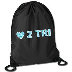 Triathlon Sport Pack Cinch Sack - LOVE 2 TRI #WomenGymBags
