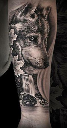 creative wolf tattoo ideas © tattoo artist Blade & Shade Tattoo and Piercing Lu. - creative wolf tattoo ideas © tattoo artist Blade & Shade Tattoo and Piercing Luzern 💟❤💟❤ - Wolf Tattoos Men, Tattoos Skull, Cute Tattoos, Body Art Tattoos, Animal Tattoos, Small Tattoos, Celtic Tattoos, Shaded Tattoos, Wolf Tattoo Forearm