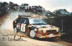 Fabrizio Tabaton - Luciano Tedeschini-9º Rally Costa Esmeralda 1986. Lancia Delta S4. Clasificado 4º-Foto con autógrafo de Fabrizio.
