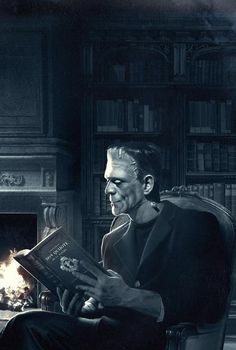 Reading is soothing to the soul. I mean, look how close he is to that fire.
