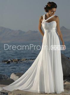 Gorgeous Informal Empire Halter Sleeveless Court Tarin Beach Wedding Dresses