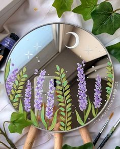 Aesthetic Painting, Aesthetic Room Decor, Aesthetic Art, Cd Wall Art, Cd Art, Mirror Painting, Mirror Art, Painting Art, Indie Room Decor