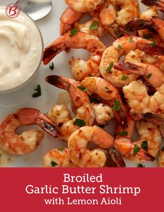 This simple yet sophisticated shrimp appetizer has all the right stuff: quick and easy prep, pretty presentation and killer flavor. Served with a homemade lemon aioli sauce that you won't be able to stop dipping into, this shrimp is just the ticket for a foolproof appetizer that wows.