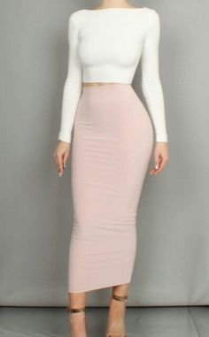 Stylish Long Skirt Spring Outfits Ideas 24 Source by Long Skirt Outfits, Pencil Skirt Outfits, Long Pencil Skirt, Pencil Skirts, Pencil Dresses, Midi Skirts, Classy Outfits, Sexy Outfits, Stylish Outfits