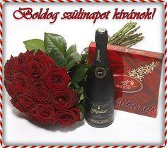 születésnap, képek, képeslapok, rózsa, pezsgő, bonbon, ajándék,