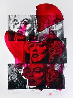 "Saatchi Art Artist Tezcan Bahar; Printmaking, ""Marely Series - 1 - Limited Edition 1 of 1"" #art"