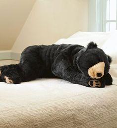 Confortable saco de dormir con forma de oso