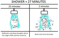 Ain't it the truth. I take so long in the shower