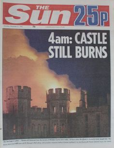 1992: Blaze rages in Windsor Castle A fierce fire is raging through Windsor Castle threatening one of the world's greatest collections of art.The Queen and the Duke of York have been helping to rescue priceless works from the royal residence, as 200 firefighters attempt to fight the flames. One of the world's greatest collections of art is threatened The fire started in a private chapel on the first floor of the north-east wing and has caused damage which will cost millions to repair.