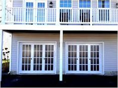 Garage Door Windows, Carriage Garage Doors, Overhead Garage Door, Single Garage Door, Porch, Outdoor Decor, Home Decor, Garage Doors, Terrace