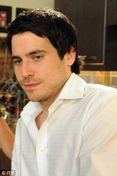 Before they were Downton: Rob James-Collier played Liam Connor in Coronation Street before starring as footman Thomas Barrow. yup I remember Liam! Downton Abbey Cast, Downton Abbey Fashion, Robert Crawley, Rob James Collier, Phyllis Logan, Hugh Bonneville, Holby City, Soap Stars, Coronation Street