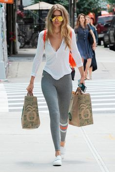 13 July The elder Hadid also kept it sporty as she ran errands in the city.   - HarpersBAZAAR.co.uk
