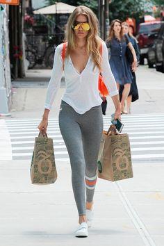 13 July The elder Hadid also kept it sporty as she ran errands in the city.   - HarpersBAZAAR.co.uk