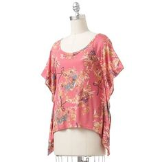 LOVE this LC Lauren Conrad top!  I'm a big fan of the sharkbite hem and flowy sleeves.  Looks great with grey skinny pants or skinny jeans.