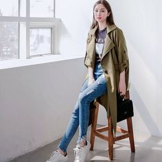 #envylook Adjustable Sleeves Single-Breasted Long Coat #koreanfashion #koreanstyle #kfashion #kstyle #stylish #fashionista #fashioninspo #fashioninspiration #inspirations #ootd #streetfashion #streetstyle #fashion #trend #style