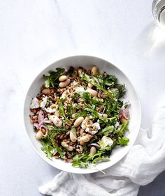 White Bean and Farro Salad | Get the recipe for White Bean and Farro Salad.